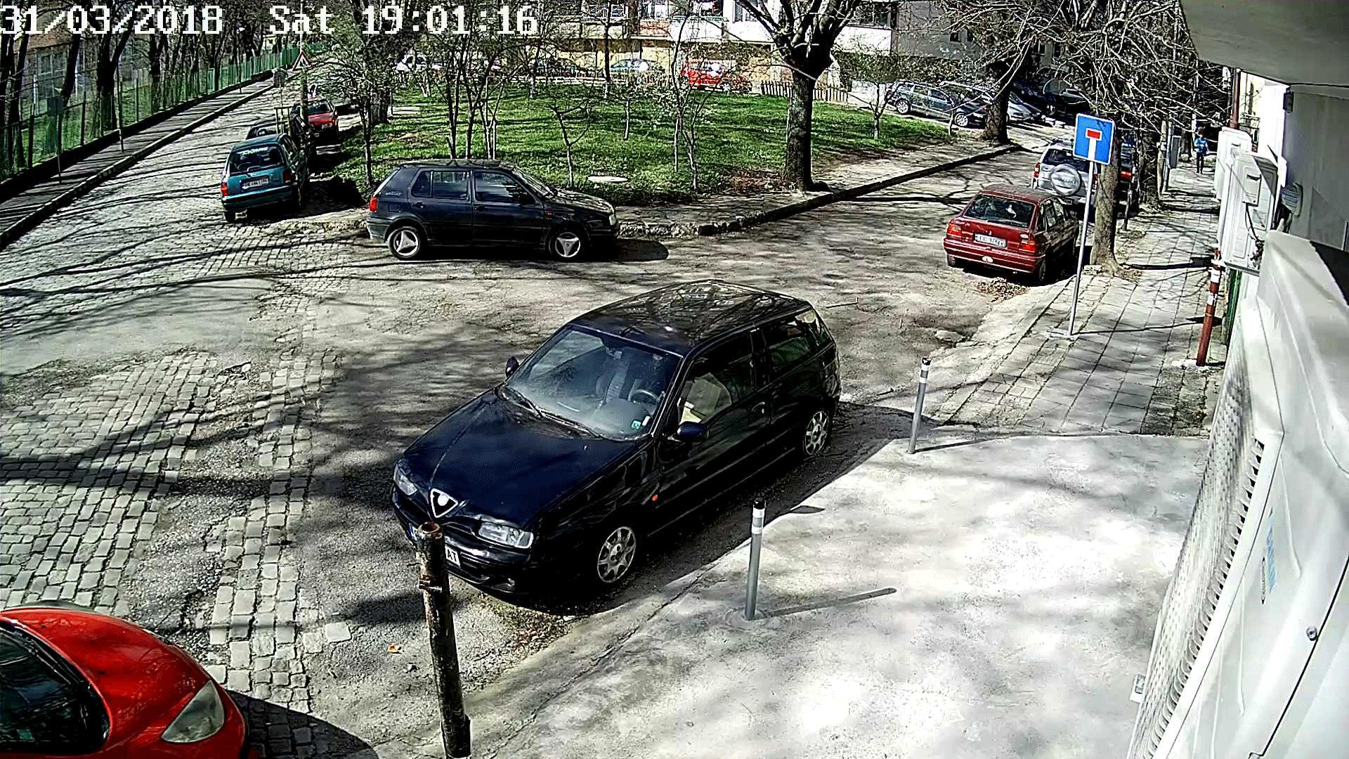 Изображение от камерата в дневен режим