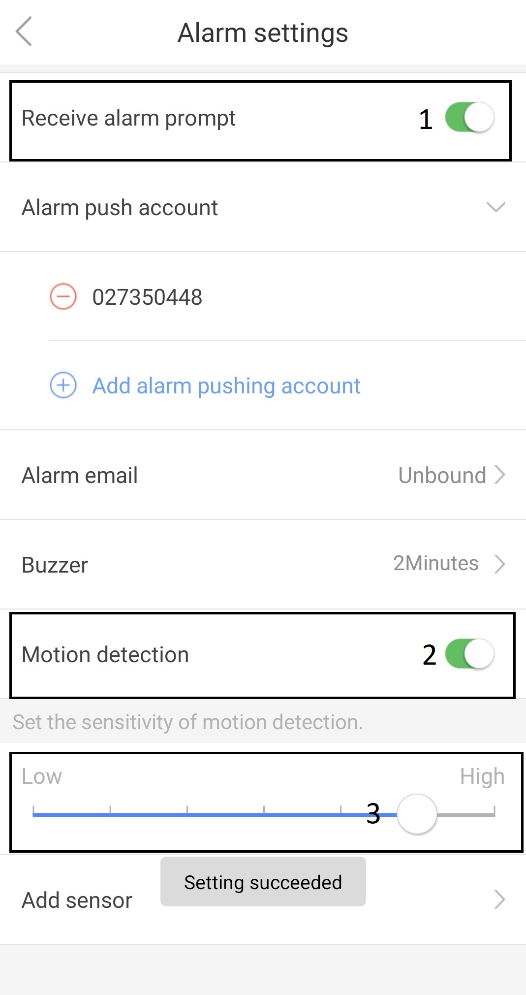 Добавяне на безжичен сензор към WIFI алармена камера YOOSEE